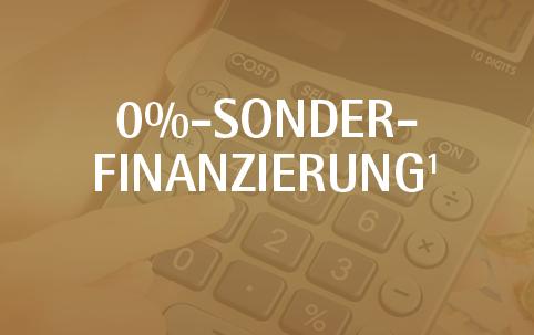 Null Prozent Sonderfinanzierung