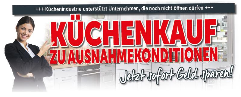 Kuechenkauf zu Ausnahmekonditionen - Kuechenindustrie uenterstuetzt Unternehmen - Küchen Pletl