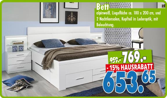 Schlafzimmer mit 15% Hausrabatt