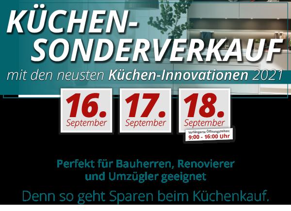 3 Tage exklusiver Küchen-Sonderverkauf bei Möbel Rieder!