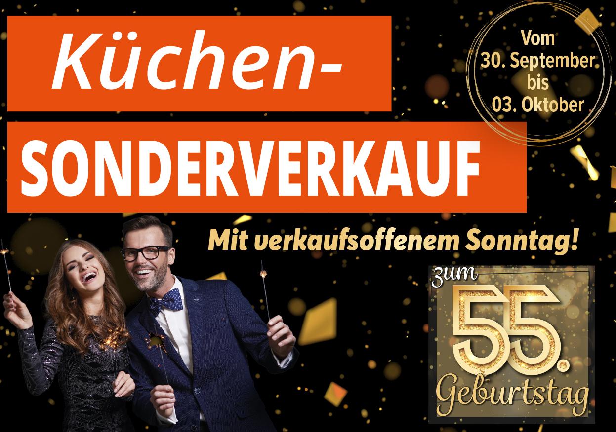 Möbel Strobel feiert 55. Geburtstag mit Küchen-Sonderverkauf zu Ausnahmenkonditionen!