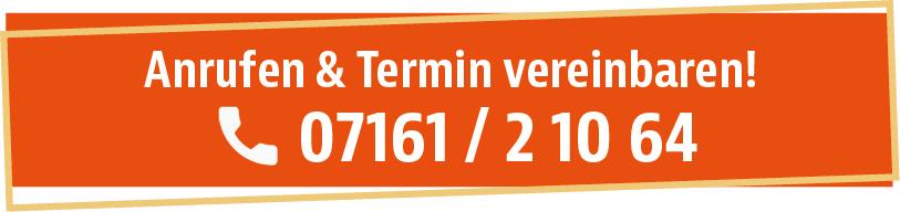 Anrufen und Termin vereinbaren unter 0716121064