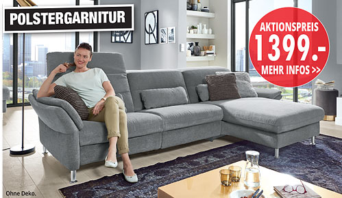 Möbel Hartwig - Home-Wohnkollektion - Polstergarnitur