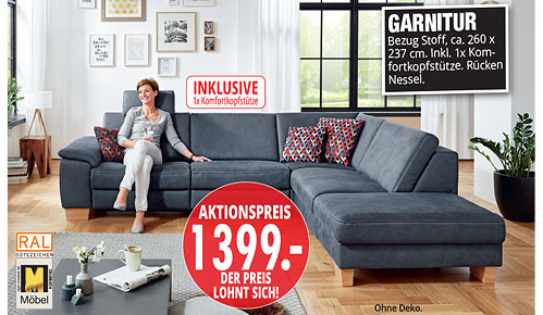 Möbel Hartwig - Home-Wohnkollektion - Garnitur