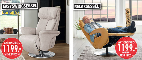 Möbel Hartwig - Home-Wohnkollektion - Easy-Swingsessel, Relaxsessel