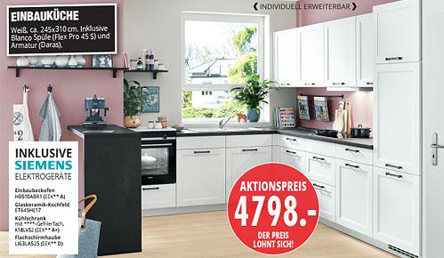 Möbel Hartwig - aktuelle Küchentrends - EINBAUKÜCHE Weiß