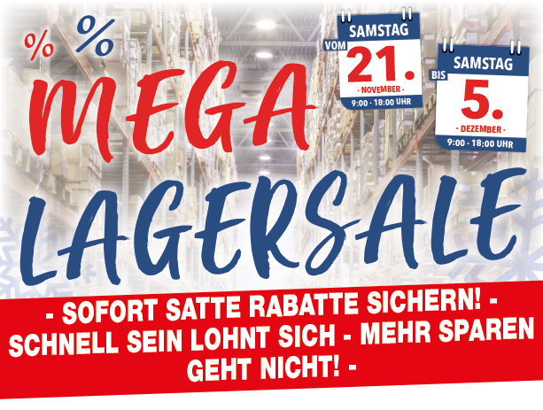 Mega Möbel-Lagersale bei Möbel Hartwig!