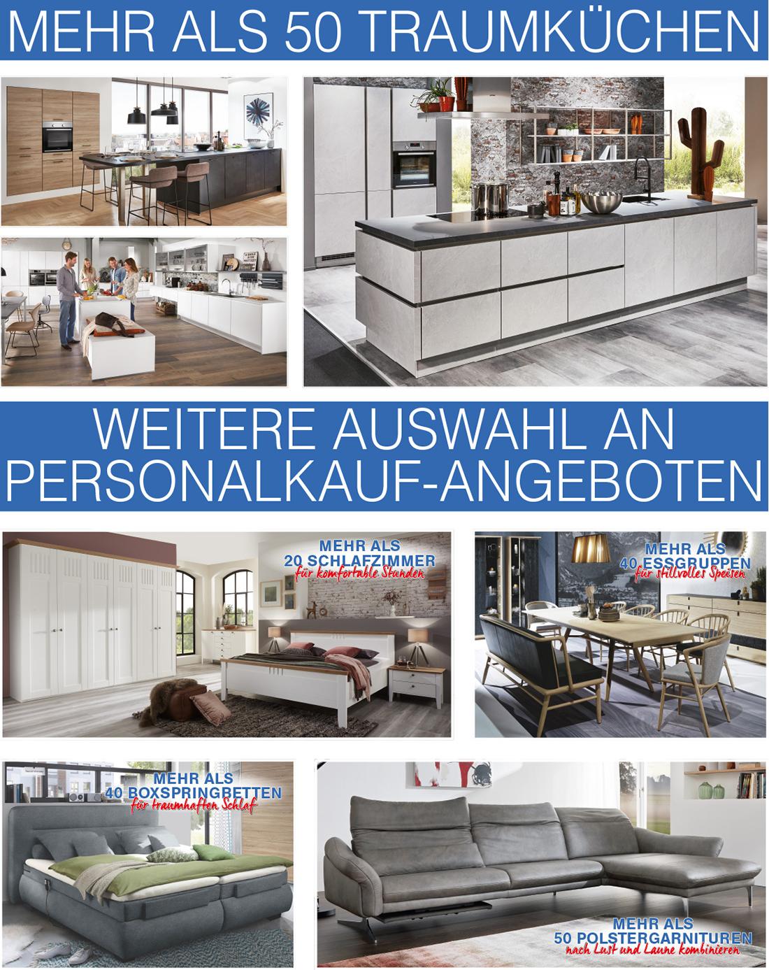Tolle Personalkauf-Angebote bei Möbel Hartwig