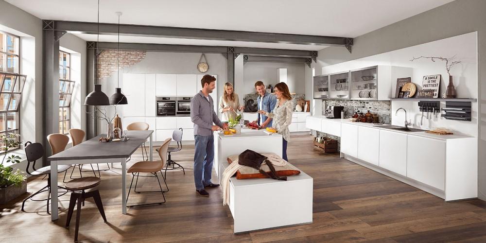 Design-Küche Inline grifflos Nobilia  - extra günstig zu Ausnahmekonditionen beim Küchen-Sonderverkauf