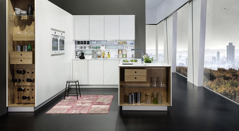 das neue k che esszimmer wohnzimmer konzept g nstig k chen kaufen. Black Bedroom Furniture Sets. Home Design Ideas