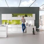 Frische Farben - Nobilia Line-N Feel810 - Lack, Weiß matt + Farn grün