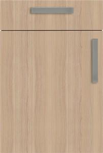 Küchensonderverkauf: helle Küche, hochglänzend, mit Wohlfühlambiente - Bauformat - Holz