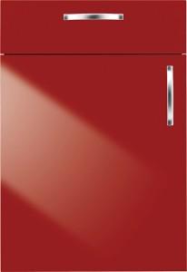 Küchensonderverkauf: helle Küche, hochglänzend, mit Wohlfühlambiente - Bauformat - rot