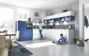 Günstige Küchen beim Küchensonderverkauf - Küche Marys ozeanblau