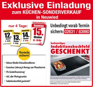 Nutzen Sie die exklusiven Vorteile und Aussnahmekonditionen beim exklusiven Küchensonderverkauf bei Möbel May in 56564 Neuwied