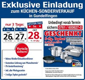Mega günstig die neue Traumküche kaufen Schnäppchen beim Küchensonderverkauf bei Mega Küchen in 79194 Freiburg-Gundelfingen
