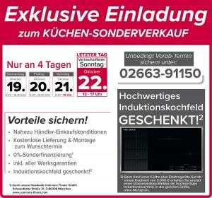 Exklusive Gratis-Vorteile nutzen beim günstigen Küchensonderverkauf bei Wohnlich Westerburg in 56457 Westerburg