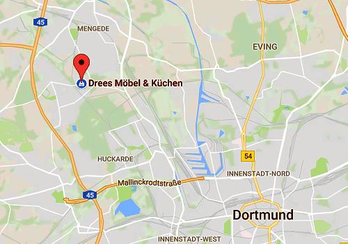 Super günstiger Küchen-Sonderverkauf bei Möbel Drees, 44357 Dortmund - Anfahrt