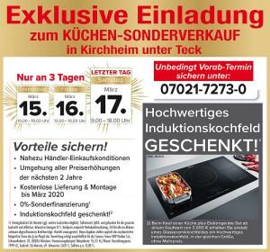 2 Jahre Planungssicherheit und Preisstabilität: Günstiger Küchensonderverkauf mit Jubiläumspreisen und exklusiven Vorteilen bei Möbel König in 73230 Kirchheim unter Teck! 40 Jahre Firmenjubiläum