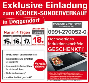 2 Jahre Planungssicherheit, günstig die neue Küche kaufen: beim Küchensonderverkauf bei RuckZuck Küchenfachmarkt in 94469 Deggendorf
