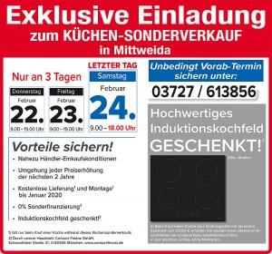 Mega günstig die neue Traumkueche kaufen Schnäppchen beim Küchensonderverkauf bei Möbel SB Halle in 09648 Mittweida