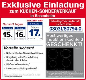 2 Jahre Plaungssicherheit und exklusive Vorteile beim günstigen Küchensonderverkauf bei Wohnorama in 83026 Rosenheim