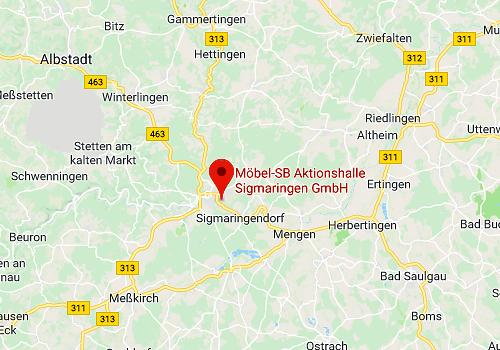 Küchensonderverkauf Möbel-SB Aktionshalle 72488 Sigmaringen