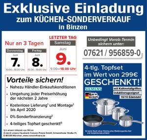 Exklusive Vorteile nutzen beim super-günstigen Küchensonderverkauf bei MEGA Küchen in 79589 Binzen