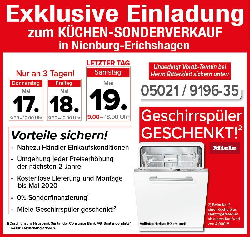 Küchen Nienburg termin übersicht für den bundesweiten küchen sonderverkauf