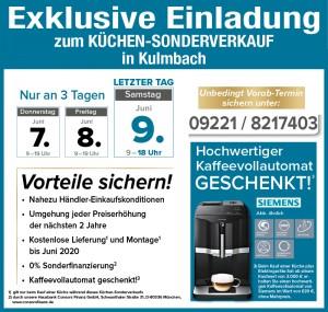 Super günstig Küchen kaufen beim Küchensonderverkauf der KÜCHENalliance in 95326 Kulmbach