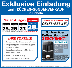 Exklusive Vorteile nutzen - 2 Jahre Planungssicherheit, Wunschlieferung + Montage GRATIS - beim günstigen Küchen-Sonderverkauf bei der Möbel SB Halle GmbH in 04720 Döbeln