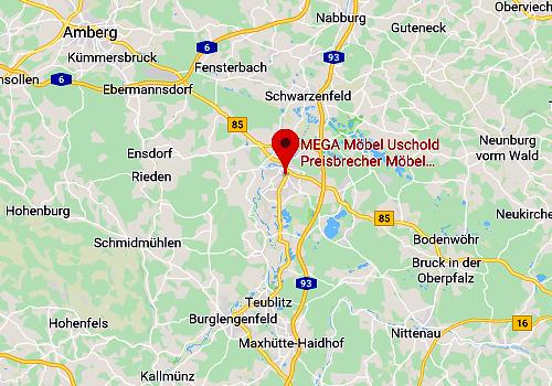 Küchen-Sonderverkauf bei Uschold Mega Möbel 92421 Schwandorf