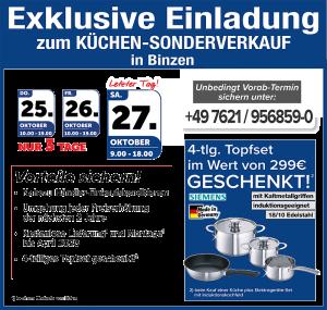 Exklusive Vorteile nutzen: GRATIS Lieferung + Montage bis Oktober 2020, Topfset geschenkt - Küchen-Sonderverkauf bei MEGA Küchen in 79589 Binzen