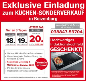 Richtig günstig Küchen kaufen beim Küchensonderverkauf bei Bura Möbel in 19258 Boizenburg/Elbe