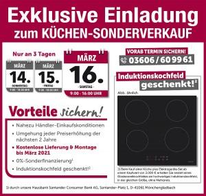 Exklusive Ausnahmekonditionen beim günstigen Küchensonderverkauf im Heiligenstädter Möbelmarkt in 37308 Heiligenstadt