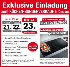 Exklusive Sondervorteile sichern beim günstigen Küchen-Sonderverkauf bei Möbel Mit in 06841 Dessau-Alten