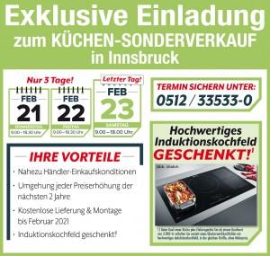 Exklusive Vorteile sichern beim super-günstigen Küchen-Sonderverkauf bei Avanti in Innsbruck