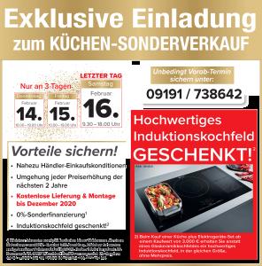 2 Jahre Planungssicherheit + Preisstabilität bis Februar 2021, nahezu Händlereinkaufskonditionen, Induktionskochfeld gratis, exklusive Sonderkonditionen Küchen-Sonderverkauf: Küchenwelt Fischer, 91301 Forchheim