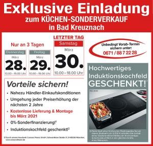 Exklusive Vorteile sichern beim super-günstigen Kuechensonderverkauf bei Möbel Mayer in 55543 Bad Kreuznach