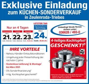 Wirklich günstig Küchen kaufen mit Vorteilen beim Küchensonderverkauf bei der Möbel SB Halle in 07937 Zeulenroda-Triebes