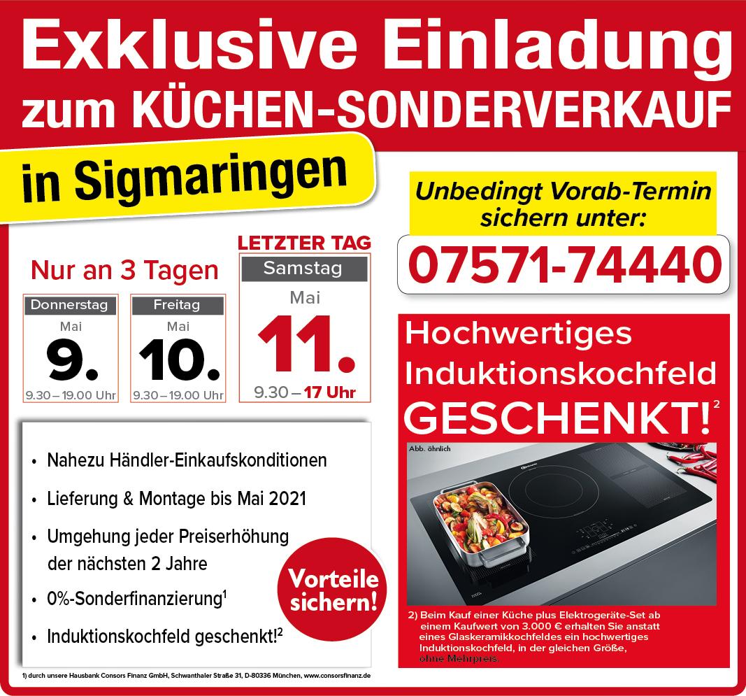 76160564b8761a Z  00 Datenaustausch Allgemein 00 Mailing 2019 1903 077 Moebel SB Aktionshalle KSV Sigmaringen 9 11 Mai 14660 Teaser  Küchensonderverkauf Möbel-SB ...