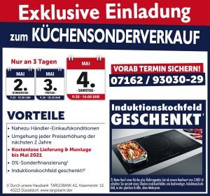Küchen-Sonderverkauf mit exklusiven Vorteilen nicht nur bei Umzug, Renovierung oder Hausbau bei Möbel und Küchen Wannenwetsch in 73333 Gingen an der Fils