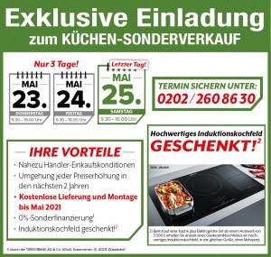 Küchen-Sonderverkauf im Möbelhaus Welteke in Wuppertal mit exklusiven Vorteilen - so günstig ist die neue Traumküche: Induktionskochfeld gratis, Lieferung + Montage gratis bis Mai 2021