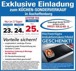 2 Jahre Planungs- und Preissicherheit, Induktionskochfeld geschenkt, gratis Lieferung + Montage bis Mai 2021: Küchen-Welt Schmidmeier, 63739 Aschaffenburg