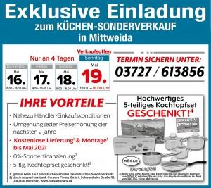 Exklusive Vorteile nutzen beim super-günstigen Küchen-Sonderverkauf bei KÜCHENalliance, 09648 Mittweida