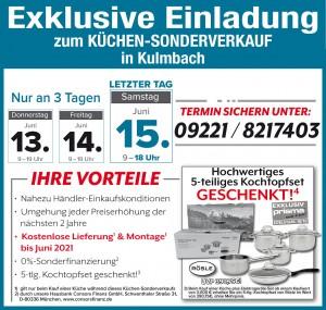 Exklusive Vorteile nutzen beim super-günstigen Küchen-Sonderverkauf bei KÜCHENalliance, 95326 Kulmbach