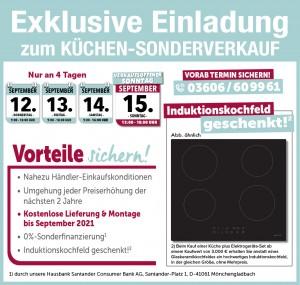 Exklusive Ausnahmekonditionen beim günstigen Küchen-Sonderverkauf im Heiligenstädter Möbelmarkt in 37308 Heiligenstadt