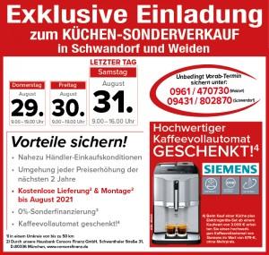 Küchen- Sonderverkauf Küchen zu top Konditionen in 92521 SchwandorfRegensburger Straße 6