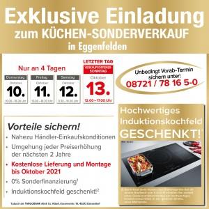 2 Jahre Planungssicherheit, günstig die neue Küche kaufen: beim Küchensonderverkauf bei RuckZuck Küchenfachmarkt in 84307 Eggenfelden