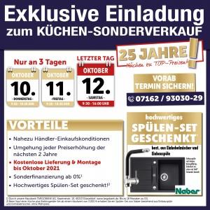 Neueröffnungsausnahmekonditionen beim günstigen Küchensonderverkauf bei Möbel und Küchen Wannenwetsch in 73333 Gingen an der Fils